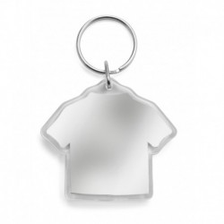 Brelok do kluczy T-shirt z miejscem na karteczkę z logo