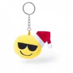 Brelok do kluczy, świąteczna uśmiechnięta buzia