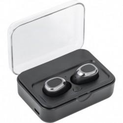 Bezprzewodowe słuchawki nauszne, power bank 2000 mAh