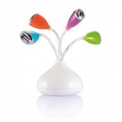 Hub USB z diodą LED kwiat