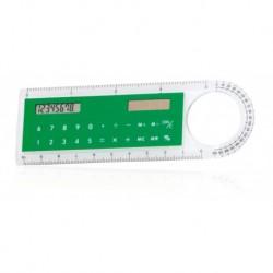 Linijka z kalkulatorem solarnym, lupa, kątomierz