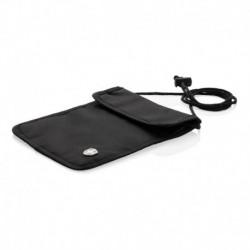 Chroniący przed kieszonkowcami portfel podróżny, ochrona przed RFID